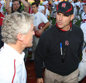 Harbaugh and Carroll's rivalry started in the Pac-12, and has only intensified in the NFC West